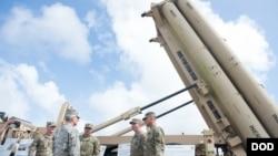 美軍2017年3月27日部署在關島的薩德反導系統(美國國防部)