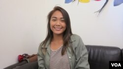 Kiana Nem, 16 year-old Lowell High School student, speaks to VOA about her experience growing up in Lowell as Cambodian-American children, at Lowell Community Health Center, on Thursday, September 8, 2016.