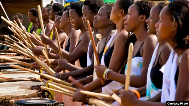 Rwanda's only female drumming troupe is made up of both Hutus and Tutsis, many of whom are still traumatized by the 1994 genocide. (Courtesy Lex Fletcher)