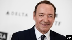 Kevin Spacey arrives at the 4th Annual Reel Stories, Real Lives Benefit held at Milk Studios, April 25, 2015, in Los Angeles.