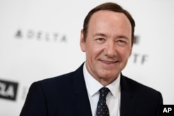FILE - Kevin Spacey arrives at the 4th Annual Reel Stories, Real Lives Benefit held at Milk Studios, April 25, 2015, in Los Angeles.