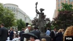 資料照:以1989年天安門廣場民主女神像為原型的華盛頓共產主義受難者紀念碑。