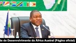 """Filipe Nyusi, Presidente de Moçambique e, em exercício, da SADC, Reunião da """"troika"""" em Maputo"""