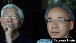 Nguyễn Hưng Quốc và Nguyễn Xuân Hoàng (hình chụp tháng 7, 2011)