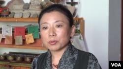 北京藏族作家唯色(視頻截圖)