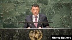 Tojikiston Bosh vaziri Qohir Rasulzoda BMT minbarida Afg'oniston, suv taqsimoti va terrorizm xususida gapirdi