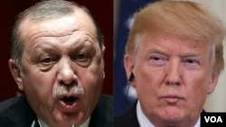 Shugaba Donald Trump da Shugaba Recep Tayyip Erdogon
