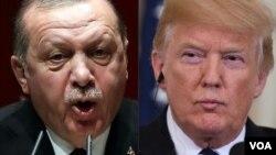Le président turc Recep Tayyip Erdogan et le président américain Donald Trump.