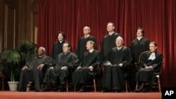 Os nove juízes do Supremo Tribunal