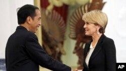 澳大利亚外长朱莉·毕晓普会晤印度尼西亚总统维多多(2016年10月26日)