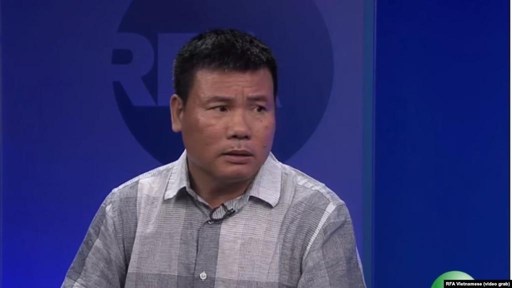Blogger trong cuộc phỏng vấn với đài Á Châu Tự Do hồi 2016.
