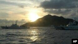 Khu vực biển đảo đang có tranh chấp giữa Nhật Bản và Trung Quốc. Nhật gọi là Senkaku và Trung Quốc gọi là Điếu Ngư