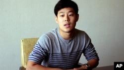 한국 국적의 미국 영주권자 주원문 씨가 14일 평양에서 외신기자들을 상대로 짧게 입장을 밝혔다.
