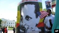 Ethiopian protesters in Washington have sought U.S. pressure to release jailed opposition leader Birtukan Mideksa.