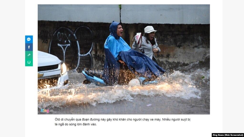 Một cảnh ngập lụt tại Sài Gòn.