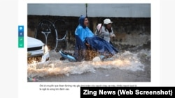 Một cảnh ngập lụt ở Sài Gòn.