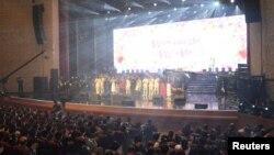 '남북 평화협력 기원' 남측 예술단이 1일북한 동평양대극장에서 '봄이 온다'라는 주제로 단독 공연을 펼쳤다.