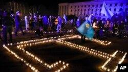 Демонстрация крымских татар в Симферополе (архивное фото)