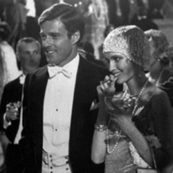 "Robert Redford played Jay Gatsby and Mia Farrow was Daisy in the 1974 film ""The Great Gatsby,"" based on F. Scott Fitzgerald's novel about 1920s society"