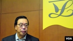 香港立法會主席梁君彥。(美國之音記者湯惠芸拍攝)