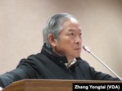 台湾执政党国民党立委林郁方 (美国之音张永泰拍摄)