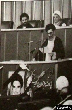 جلسه انتخاب رهبری خامنه ای در مجلس خبرگان