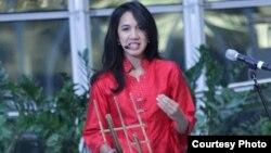 Tricia Sumarijanto guru kelompok House of Angklung di Washington, D.C.