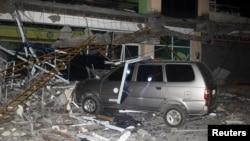 Một tòa nhà thuộc trường ĐH Surigao bị phá hủy sau trận động đất tại miền nam Philippines, ngày 10 tháng 02 năm 2017.