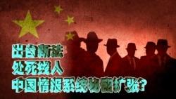 时事大家谈:处死线人,出台新法,中国情报系统秘密扩张?