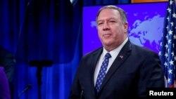 Госсекретарь США Майк Помпео на пресс-конференции в Госдепартаменте. 7 янврая 2020 гю