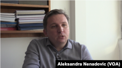 Dragan Đukanović sa Fakulteta političkih nauka, Foto: VOA