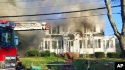 Взрыв бытового газа в Андовере, Массачусетс