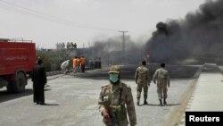 چمن میں بم دھماکہ۔ فائل فوٹو