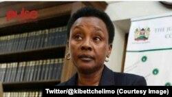 La vice-présidente de la Cour suprême kényane, Philomena Mwilu, 20 septembre 2017. (Twitter/@kibettchelimo)
