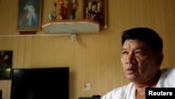 북한 김정남을 살해한 혐의로 기소된 베트남 국적자 도안 티 흐엉의 아버지인 도안 반 타인 씨.