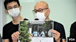 香港攝影記者協會主席陳奕釗。(美國之音 湯惠芸 拍攝)