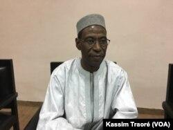 Professeur Amadou Hama Maïga, président du partenariat de l'eau en Afrique de l'ouest à Bamako, le 17 décembre 2017. (VOA/Kassim Traoré)