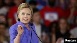 Ứng cử viên tổng thống Đảng Dân chủ Hillary Clinton vận động tranh cử tại thành phố Cincinnati, bang Ohio, ngày 27 tháng 6, 2016.