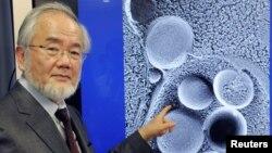 Yoshinori Ohsumi nació en 1945 en Fukuoka, Japón. Es profesor del Instituto de Tecnología de Tokio.