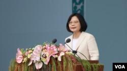 台湾总统蔡英文就职演说 2016年5月20日。(摄影:齐勇明)