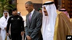Shugaban Amurka Obama da Sarkin Saudiya Salman