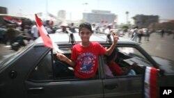 Người ủng hộ ông Mohamed Morsi ăn mừng chiến thắng tại Quảng trường Tahrir