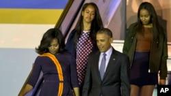 奧巴馬總統夫婦星期三抵達阿根廷訪問。