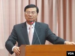 台湾金融监督管理委员会主委曾铭宗 (美国之音张永泰拍摄)