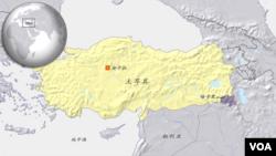 土耳其地理位置示意图