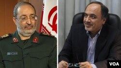 حمید ابوطالبی معاون سیاسی روحانی و مسعود جزایری معاون ستاد کل نیروهای مسلح ایران
