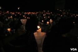 香港一年一度的六四燭光悼念集會