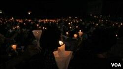 六四烛光点燃希望、勇气和决心