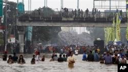 雅加達街頭水浸現像