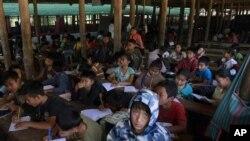 位於泰國境內的緬甸難民營(資料圖片)